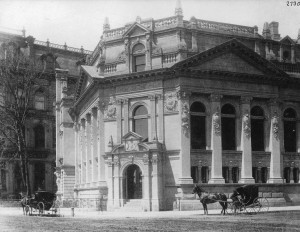 An early picture of the Bank of Montreal by famed Canadian photographer William Notman.