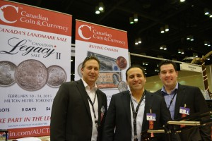 Brian Iseman, Steven Bromberg and Alfredo Cimino of Canadian Coin & Currency.