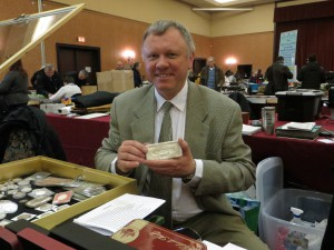 Stan Kipa, of Swiss Silver, ran a booth at this year's sale. He was the only dealer offering to buy and sell Bitcoin.