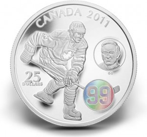 The Mint also featured Wayne and Walter on this $25 silver hologram coin.