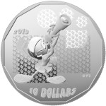 This $10 Fine silver coin, featuring Marvin the Martian, is one of eight Looney Tunes collector coins issued by the Mint today.