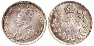 This 1915 10-cent coin