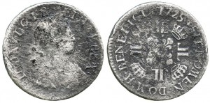 This 21.1 gram silver coin depicting the bust of King Louis XIV was recovered from the wreckage of Le Chameau in 1965.