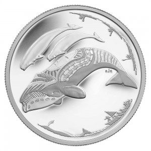 This $3 Fine silver coin features the same beluga whale design was also issued in 2013.