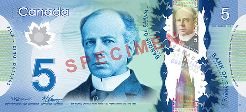 Most recently, Laurier was depicted on the Bank of Canada's Frontier Series of banknotes.