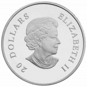 The coin's obverse features an effigy of Queen Elizabeth II.