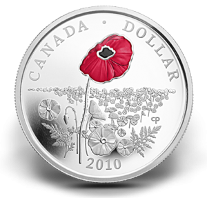 The Mint issued this poppy coin in 2010.