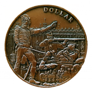 The soldiers on the obverse design represent a battle from each of the three centuries in which the Voltigeurs were active. (Photo by Artisans du Passage)