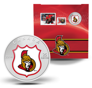 The Mint and Canada Post issued this coin and stamp gift set in 2014.