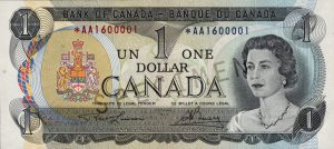 Before the introduction of the loonie, Canadians used green and white paper $1 banknotes. The bills wore out quickly, lasting between nine and 12 months.